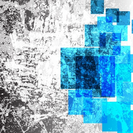 abstract blue squares design Vector