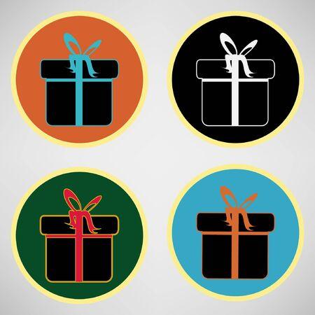 Gift box icon Stock Vector - 11241333