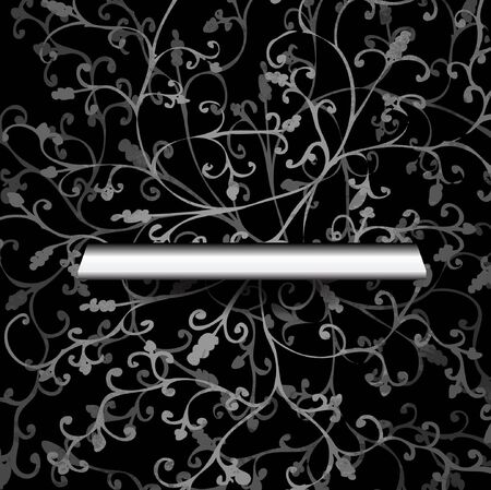 Shelf on the wall with wallpaper Vector