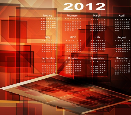 2012 Calendar. abstract Vector