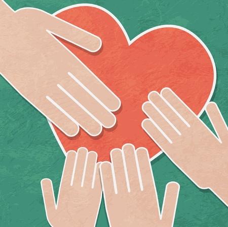 seniorenheim: Handshake-Hintergrund Illustration