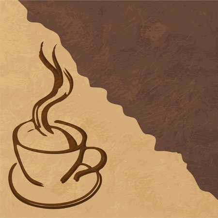 brewed: cup of coffee Illustration