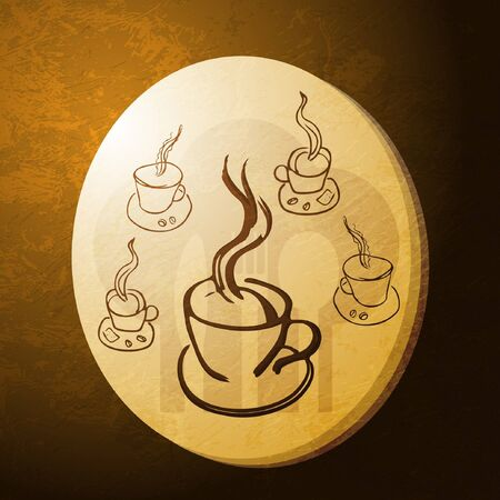 coffee gold coin Stock Vector - 11242215