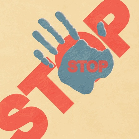 Stop hand  illustration Stock Vector - 11242197