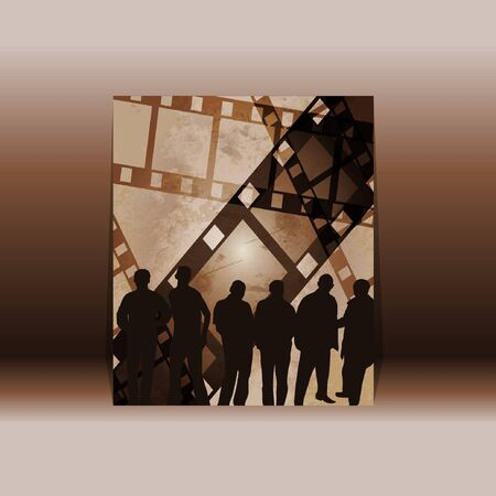 people on filmstrip Vector