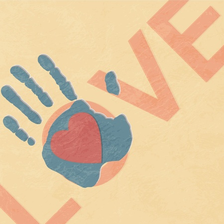 old hand: Loving hand Illustration