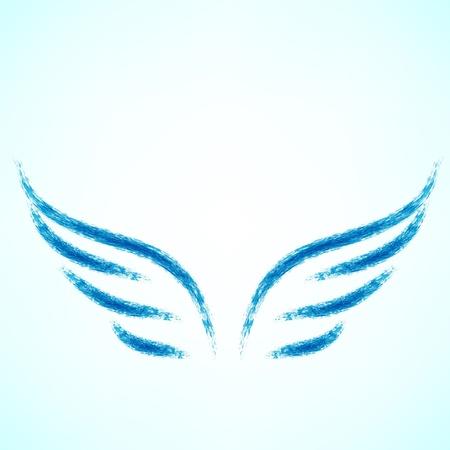 alas de angel: Ilustraci�n vectorial de �ngel icono. Vectores