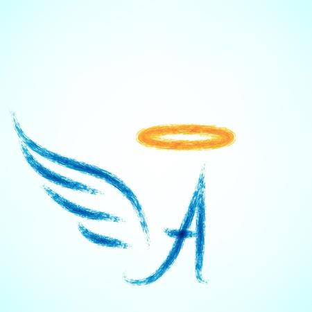 wings angel: Vector illustration of angel icon. Illustration