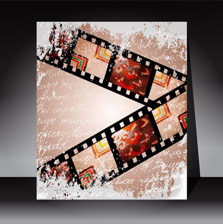 blemish: Wall and film strip, background vector