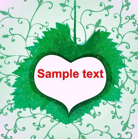 abstract green heart icon Vector