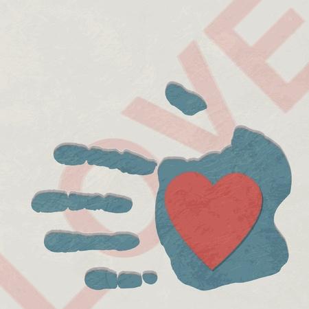 touching hands: Loving hand Illustration