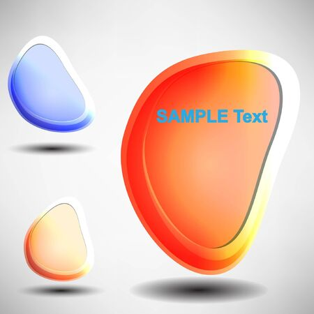 Shiny vector bubbles for speech , editable illustration Stock Vector - 12349788