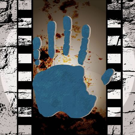 Grunge film for photo or video recording Vector