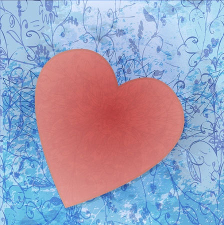 Painted brush heart shape. vector background. Stock Vector - 12349894