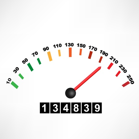 accelerate: Car speedometer