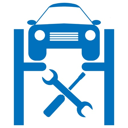 auto garage: car service icon