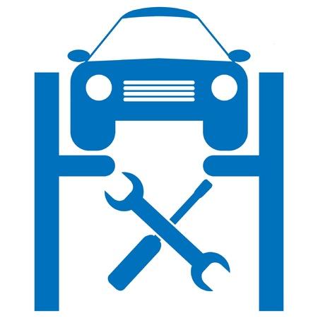 repair man: icono de veh�culo de servicio