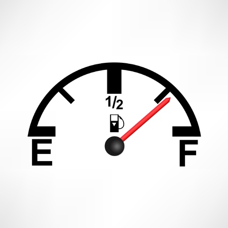 White Gas Tank Illustration Vector