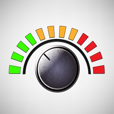 turn the dial: volume knob