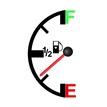 gas meter: Gas Tank Illustration