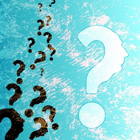 symbol of question mark in colorful background  Vector