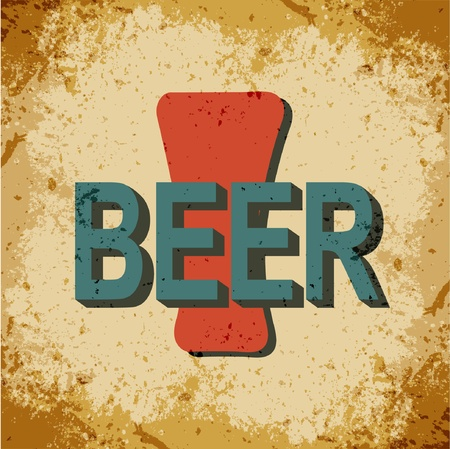 Sign beer in retro style Vector