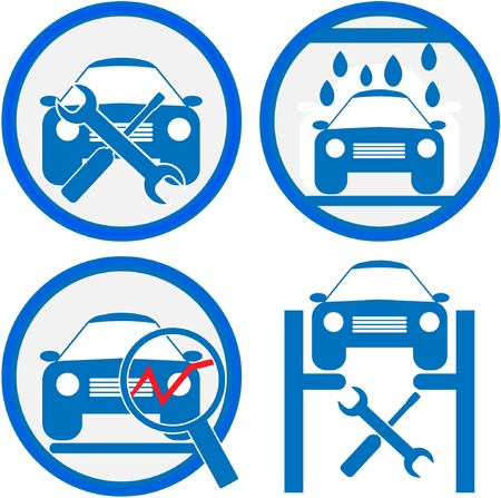 car in garage: car service icon