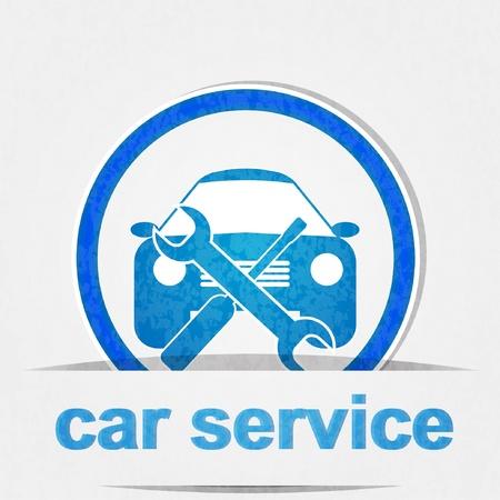 onderhoud auto: auto service icoon