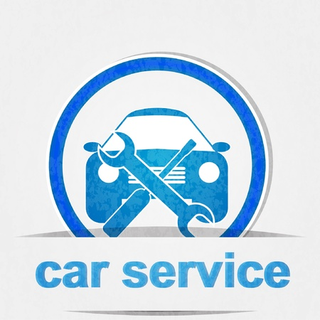 electric automobile: car service icon