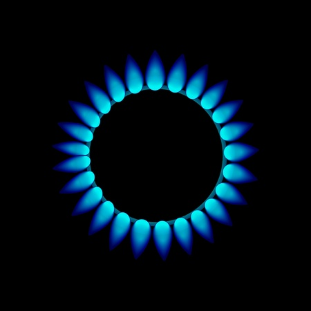 flames of gas Illustration