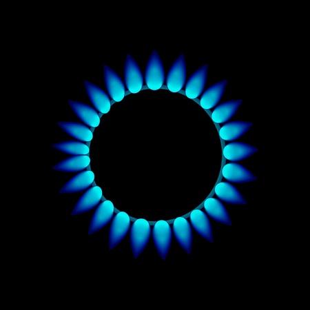 vlammen van gas Stock Illustratie