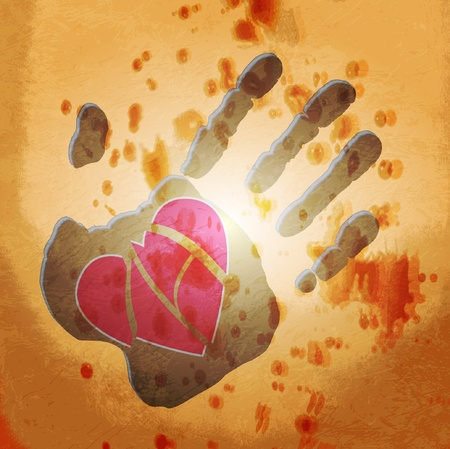 Loving hand  abstract background Vector