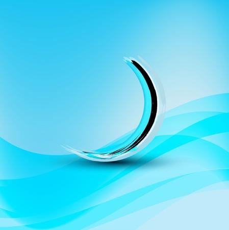 cool background: Blue wave sign