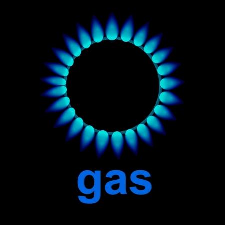 vector flames of gas Vector