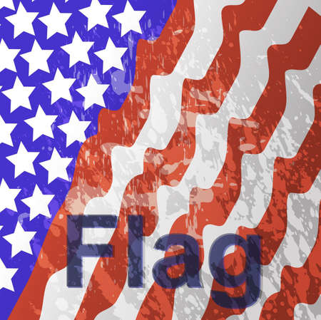 Vector illustration - USA flag in white background illustration