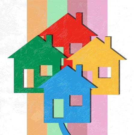 Vector 3D Houses Stock Photo - 13956975