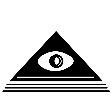 Pyramid Eye Stock Vector - 13995746