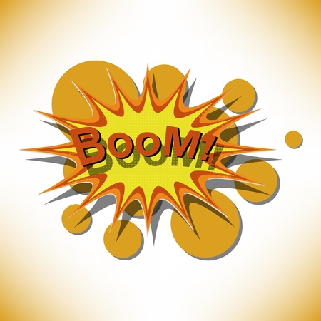 Bang. Comic book explosion. Vector