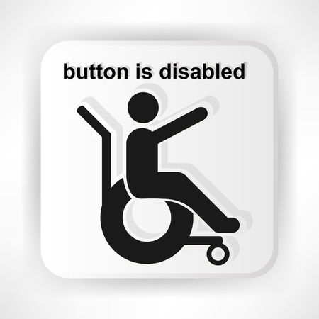 icon invalid stretched out his hand asks for help gray Vector
