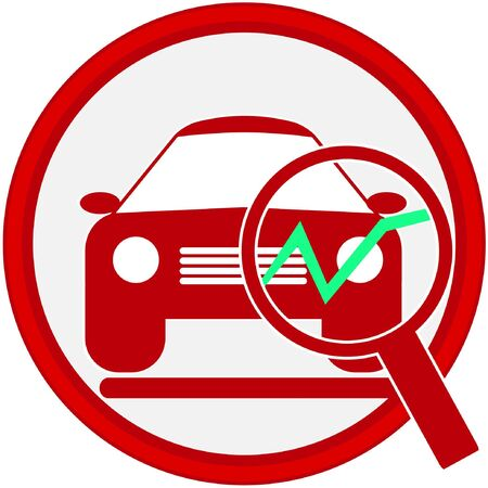 car service icon Stock Vector - 14133817