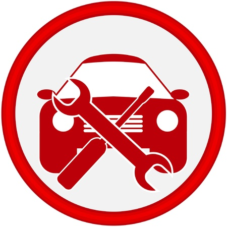 maintenance technician: car service icon