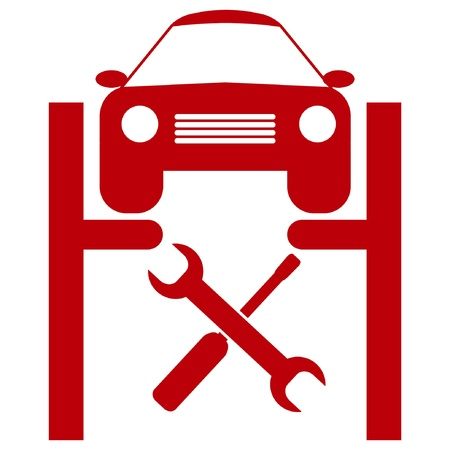 service lift: car service icon