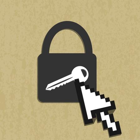 Lock house icon Stock Vector - 14151794