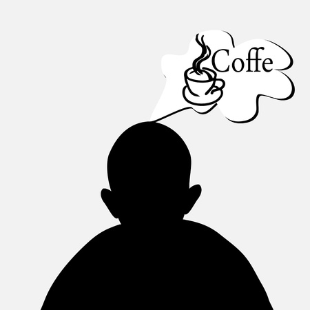 dreaming of coffee Stock Vector - 14133474