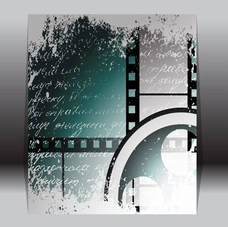 Grunge film for photo or video recording Stock Vector - 14151570