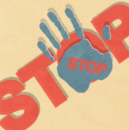 Stop hand illustration Stock Vector - 14151517