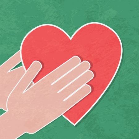 touching hands: handshake background Illustration