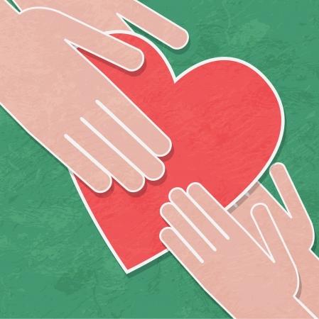 handshake background  イラスト・ベクター素材