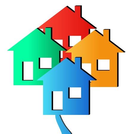 3D Houses Illustration