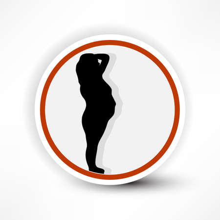 warning sign of pregnant women in red on a white background, illustration of a road sign near the hospital. Stock Vector - 14133948